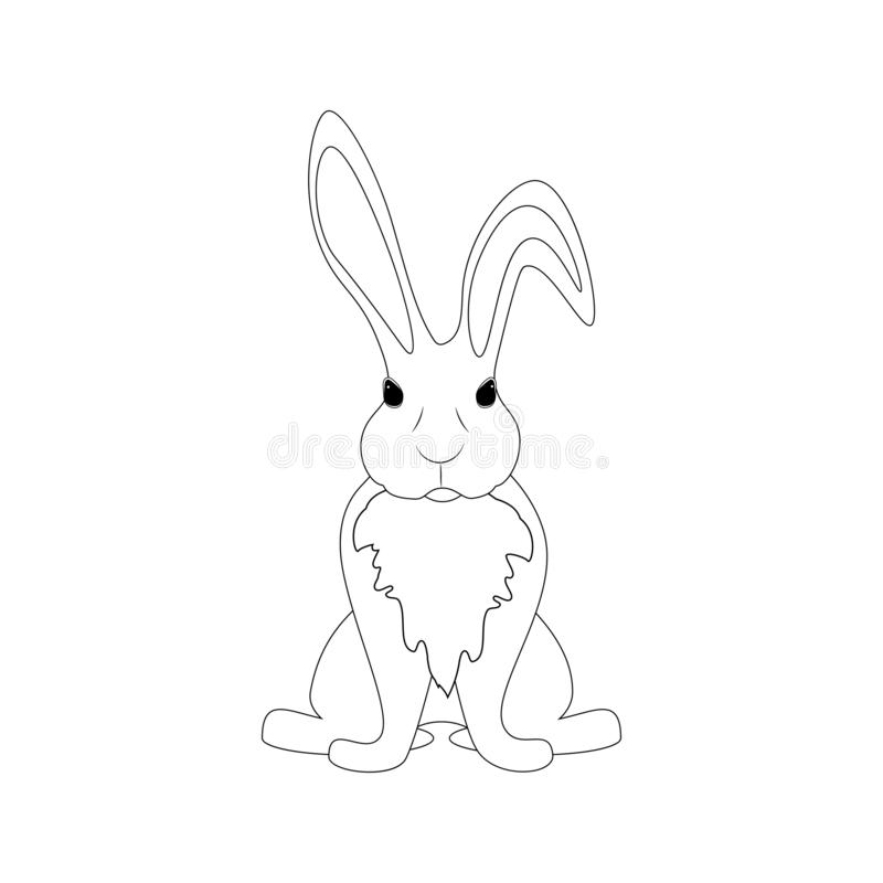 Wielkanocnego kr?lika kontur ilustracji