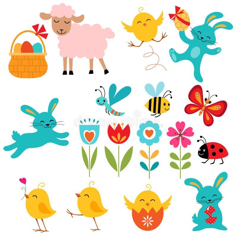 Wielkanocni elementy royalty ilustracja