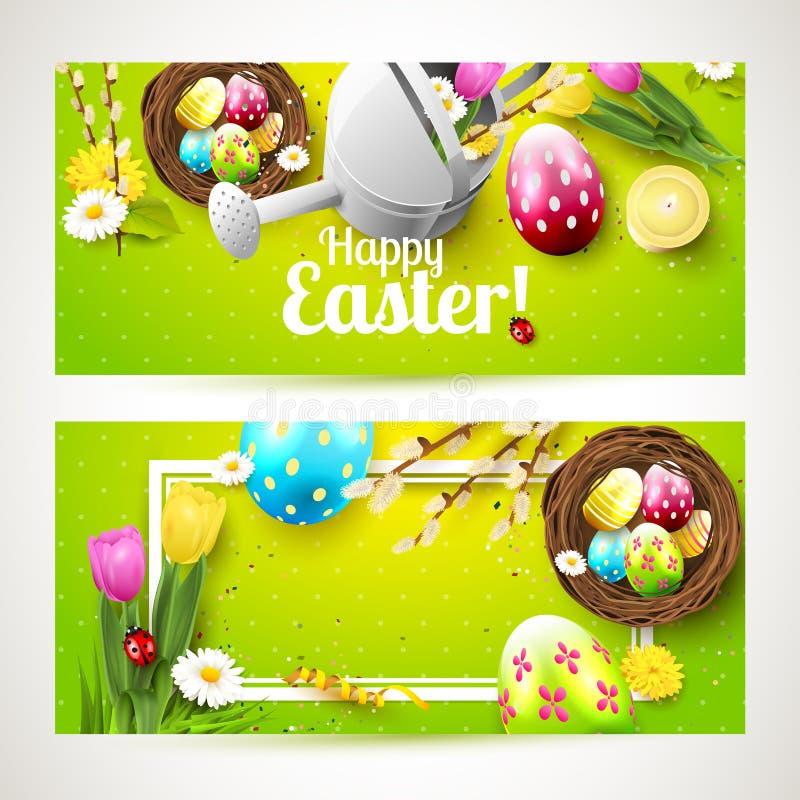 Wielkanocni horyzontalni chodnikowowie ilustracji