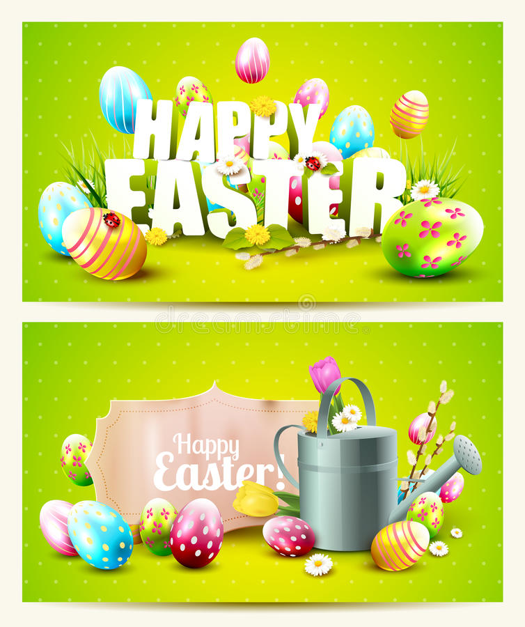 Wielkanocni horyzontalni chodnikowowie ilustracja wektor