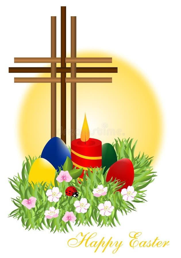 Wielkanocni jajka, cdr wektor royalty ilustracja