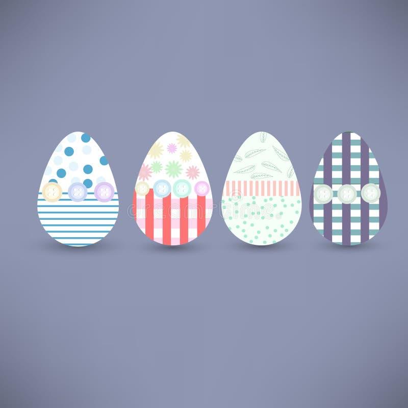 Wielkanocni jajka również zwrócić corel ilustracji wektora obrazy stock