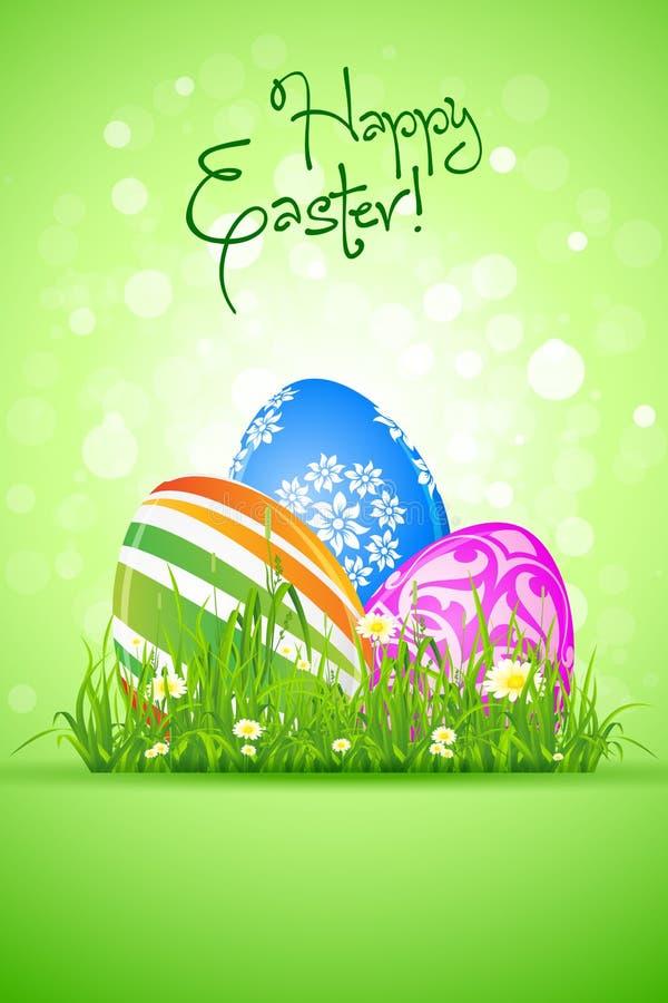 Download Wielkanocni jajka w trawie ilustracja wektor. Ilustracja złożonej z wakacje - 28957309