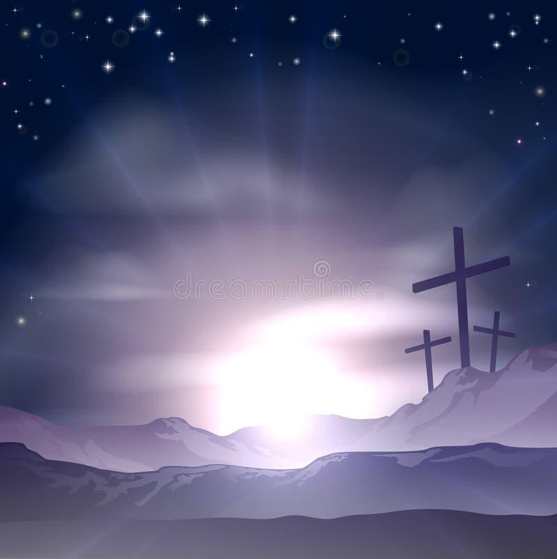 Wielkanocni krzyże ilustracji