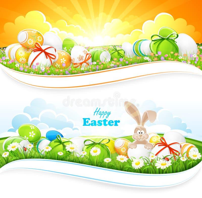 Wielkanocni tła royalty ilustracja