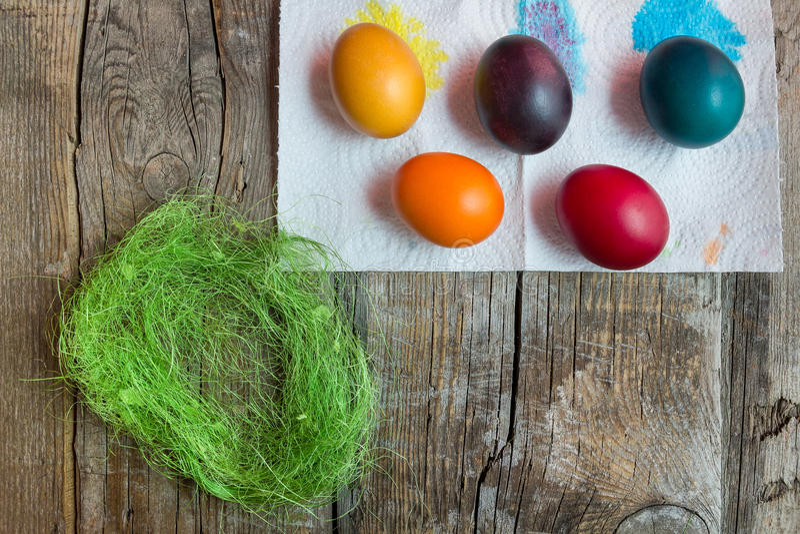 Wielkanocni wakacyjni jajka obrazy royalty free