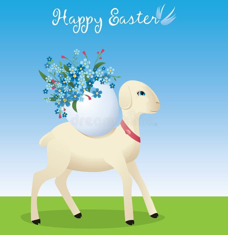 Wielkanocny baranek royalty ilustracja