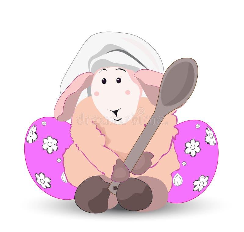 Wielkanocny baranka kucharz royalty ilustracja