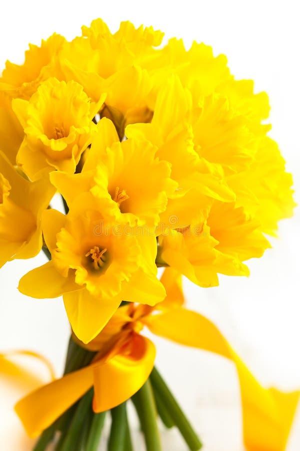 Wielkanocny bukiet żółci daffodils zdjęcie royalty free