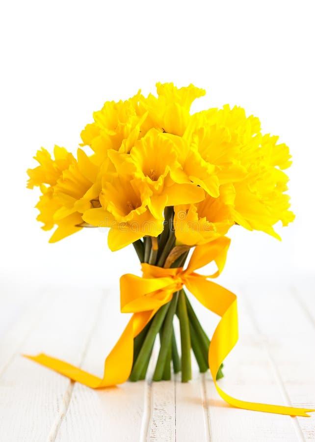 Wielkanocny bukiet żółci daffodils zdjęcie stock