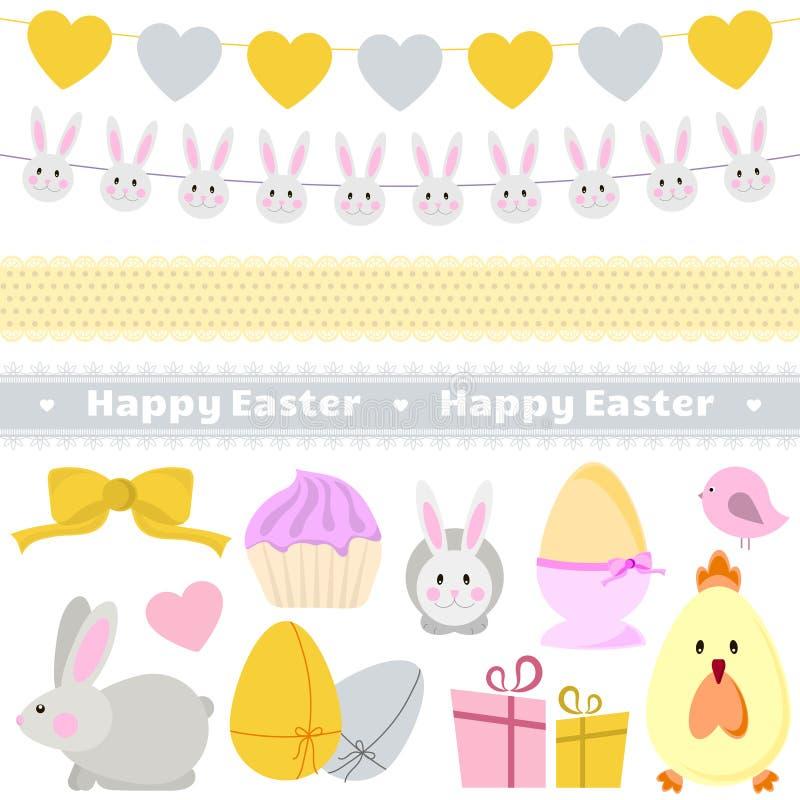 Wielkanocny dekoracja wektoru set zdjęcie stock