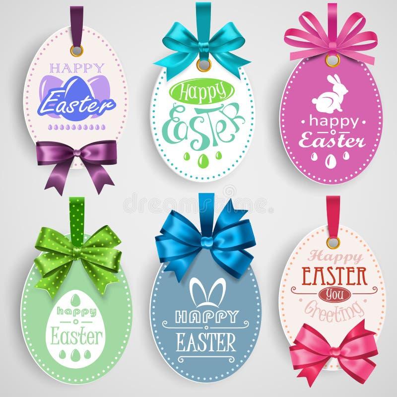 Wielkanocny emblemat z łękami ilustracji