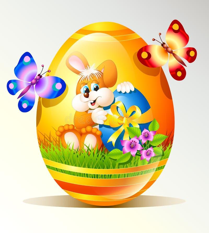 Download Wielkanocny jajko ilustracja wektor. Ilustracja złożonej z trawy - 28963901