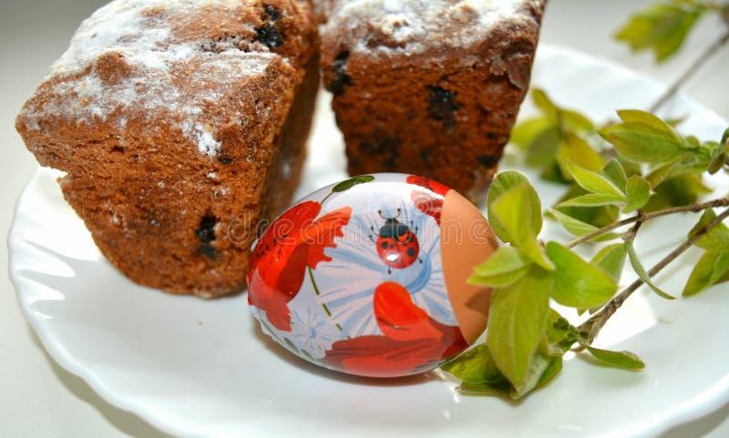 Wielkanocny jajko i babeczki zdjęcia royalty free