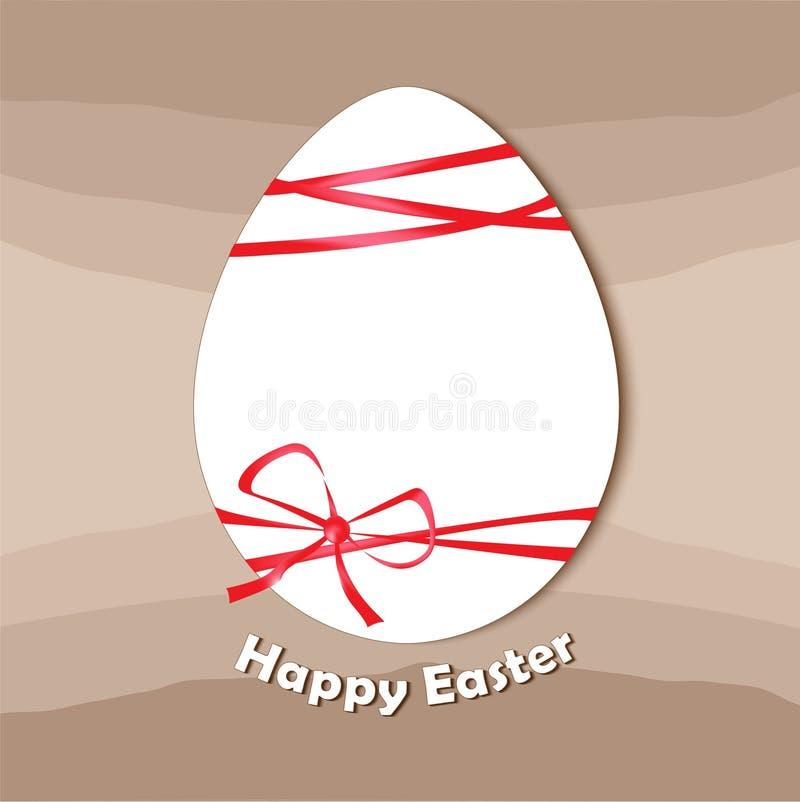 Wielkanocny jajko, szczęśliwa Easter karta ilustracja wektor