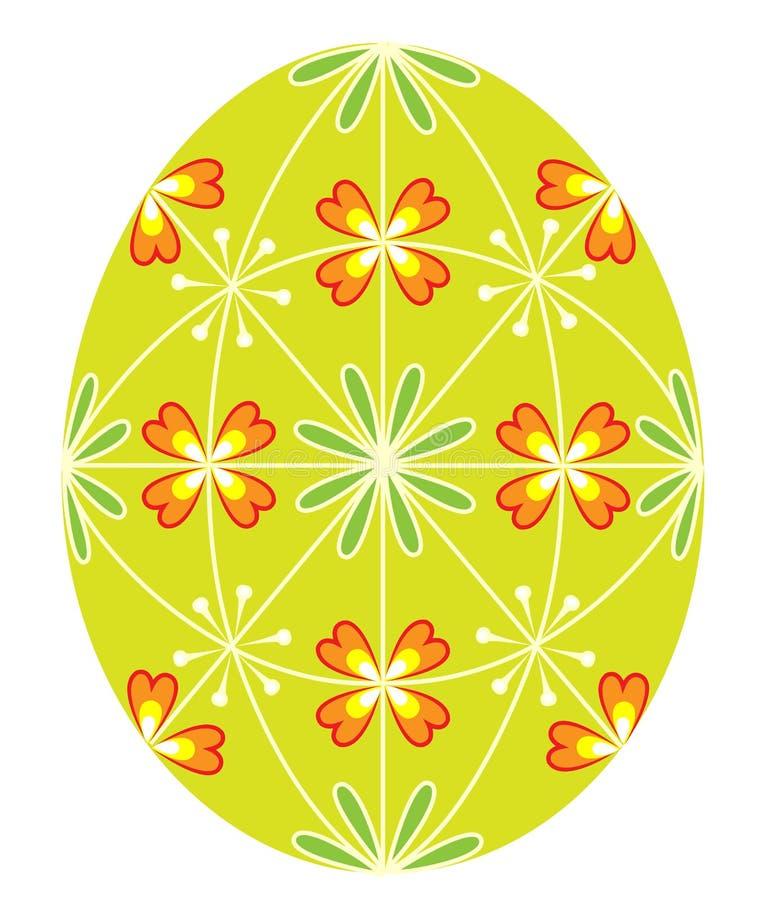 Wielkanocny jajko z maluj?cym wzorem, 48 klin?w Symbol wielkanoc Antyczna tradycja ludzie r?wnie? zwr?ci? corel ilustracji wektor ilustracja wektor