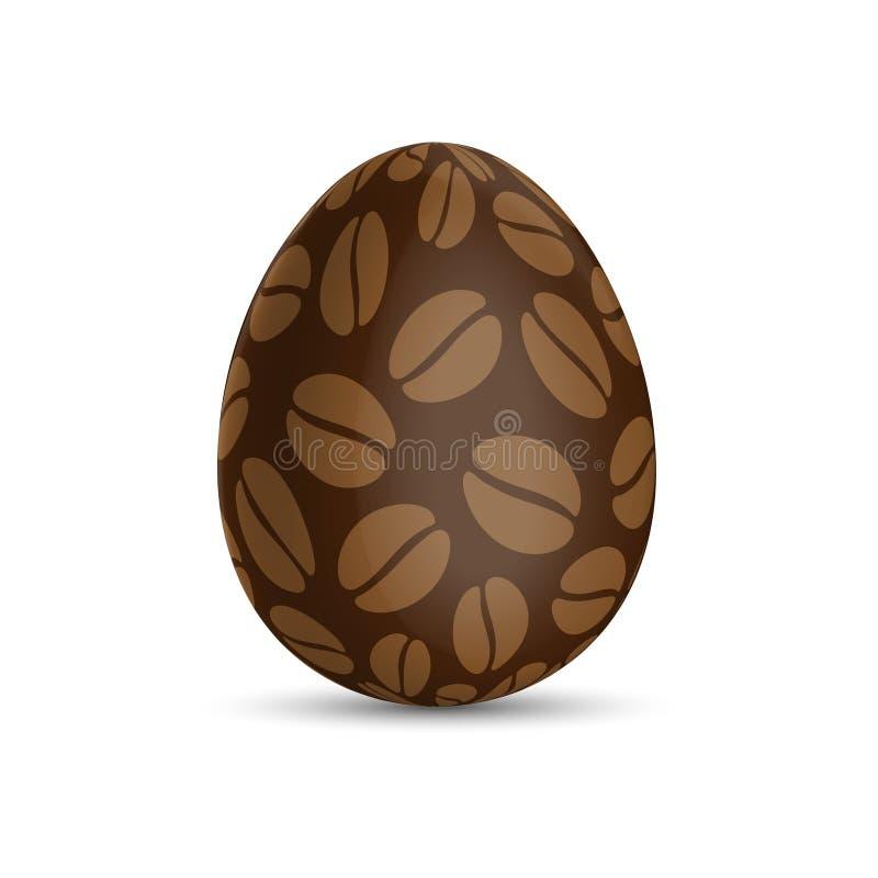 Wielkanocny jajko z wzorem kawowe fasole ilustracji