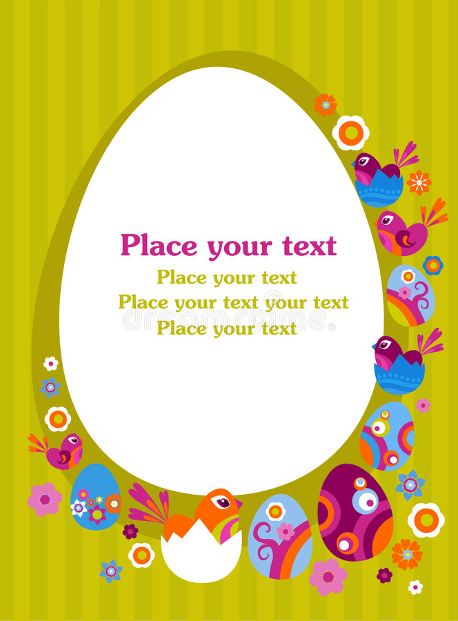 Wielkanocny kartka z pozdrowieniami ilustracji