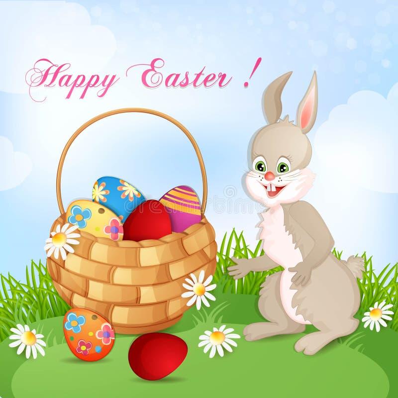 Wielkanocny kartka z pozdrowieniami ilustracja wektor
