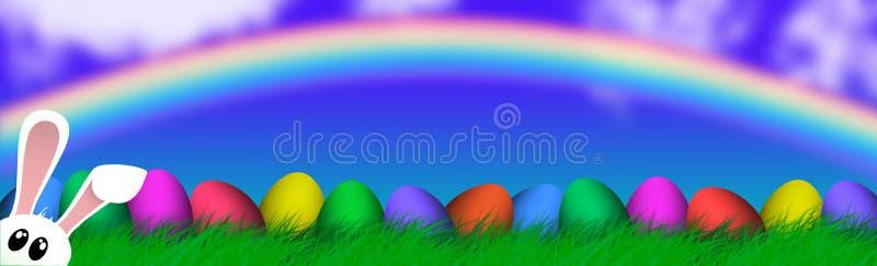 Wielkanocny Kolorowy jajko religii tła wakacje ilustracji
