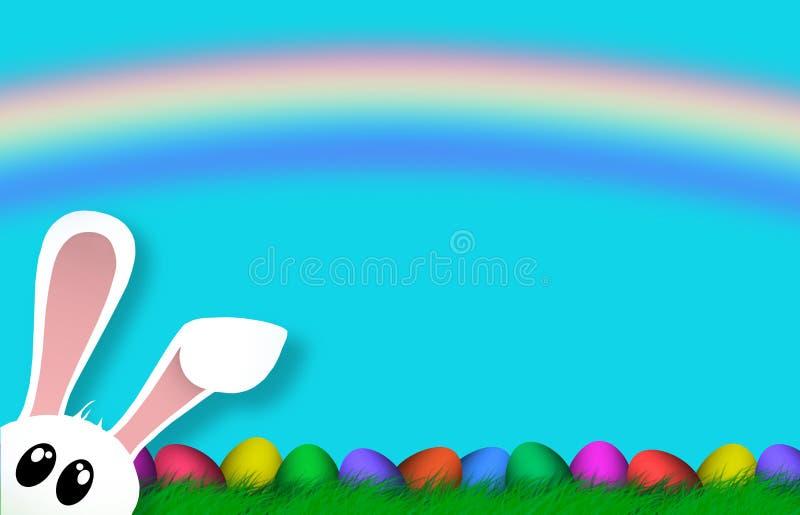 Wielkanocny Kolorowy jajko religii tła wakacje ilustracja wektor