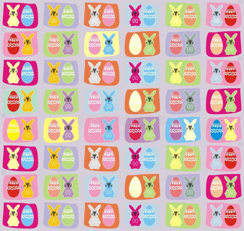 Wielkanocny królik i Wielkanocnego jajka wzór tło obrazy royalty free