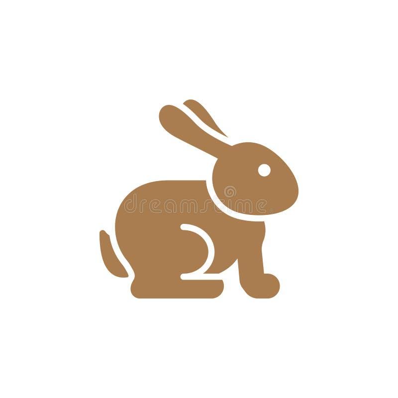 Wielkanocny królik ikony wektor, wypełniający mieszkanie znak, stały kolorowy piktogram odizolowywający na bielu ilustracja wektor
