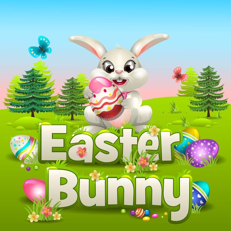 Wielkanocny królik w forrest royalty ilustracja