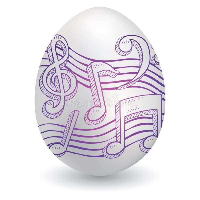 Wielkanocny muzyczny nakreślenie ilustracji