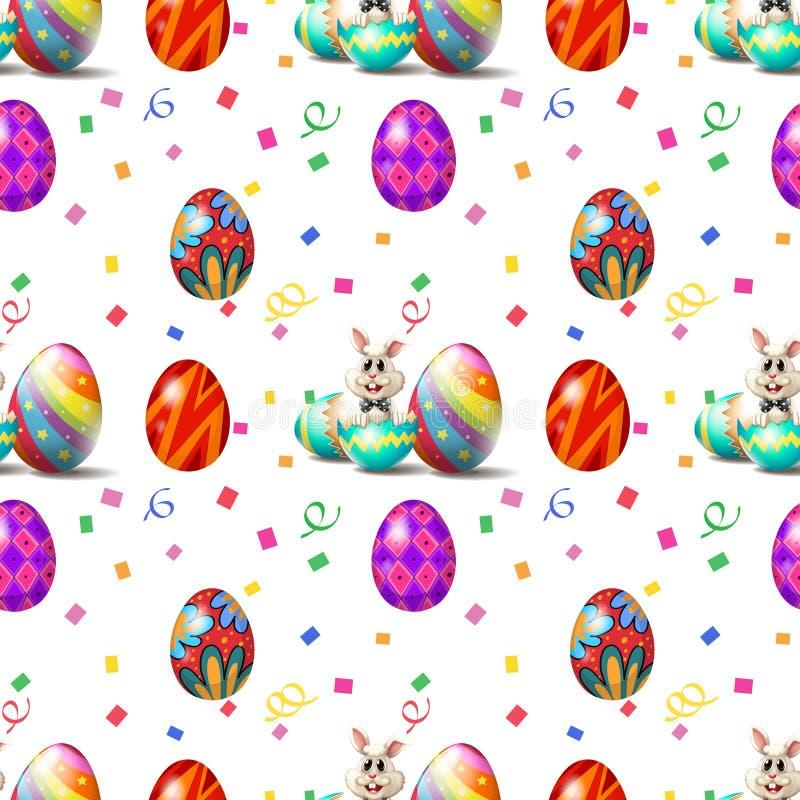 Wielkanocny Niedziela bezszwowy projekt ilustracja wektor