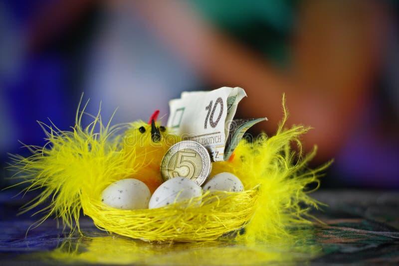 Wielkanocny połysku pieniądze obrazy stock