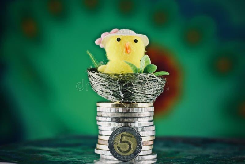 Wielkanocny połysku pieniądze obraz royalty free