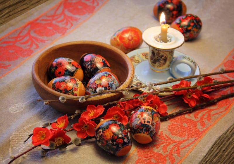 Wielkanocny skład zdjęcia stock