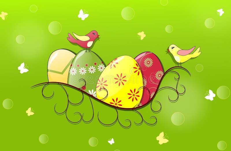Wielkanocny sztandar royalty ilustracja