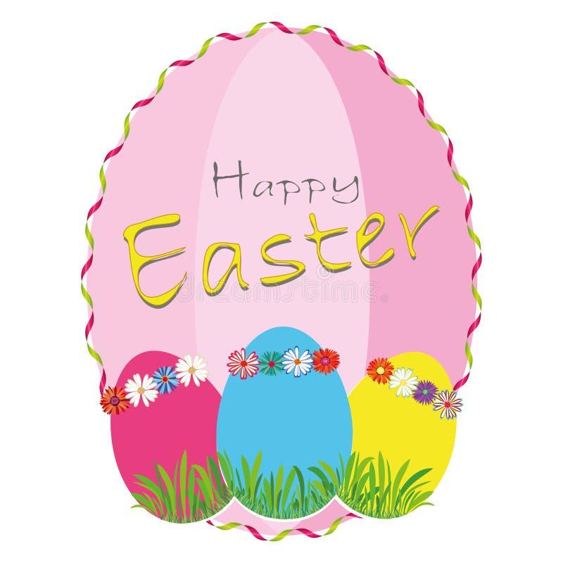 Wielkanocny sztandaru tła szablon z pięknymi kolorowymi wiosen jajkami również zwrócić corel ilustracji wektora ilustracji