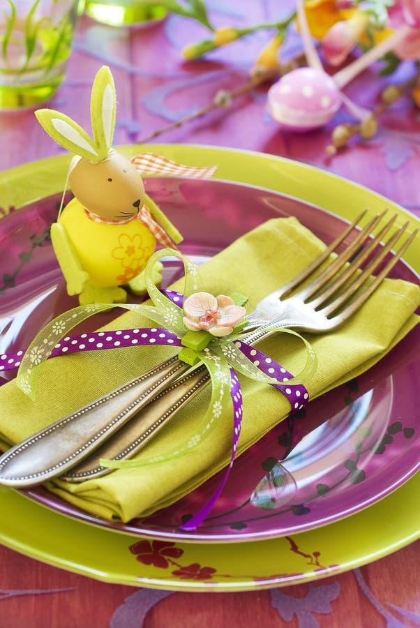 Wielkanocny tableware obraz stock