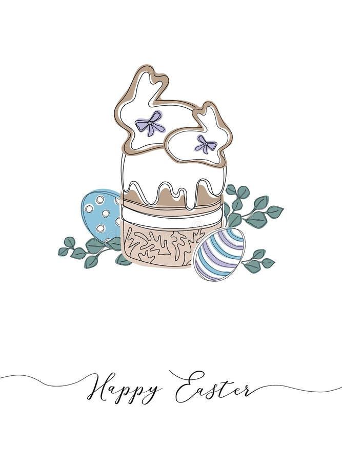 Wielkanocny wianek z Easter jajkami wr?cza patroszonego bezszwowego wz?r ilustracji