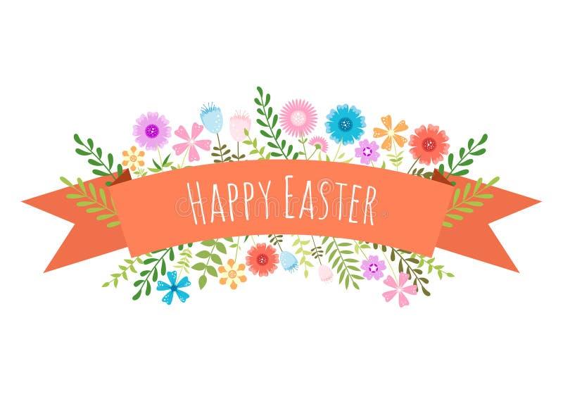 Wielkanocny wiosny tło. ilustracji