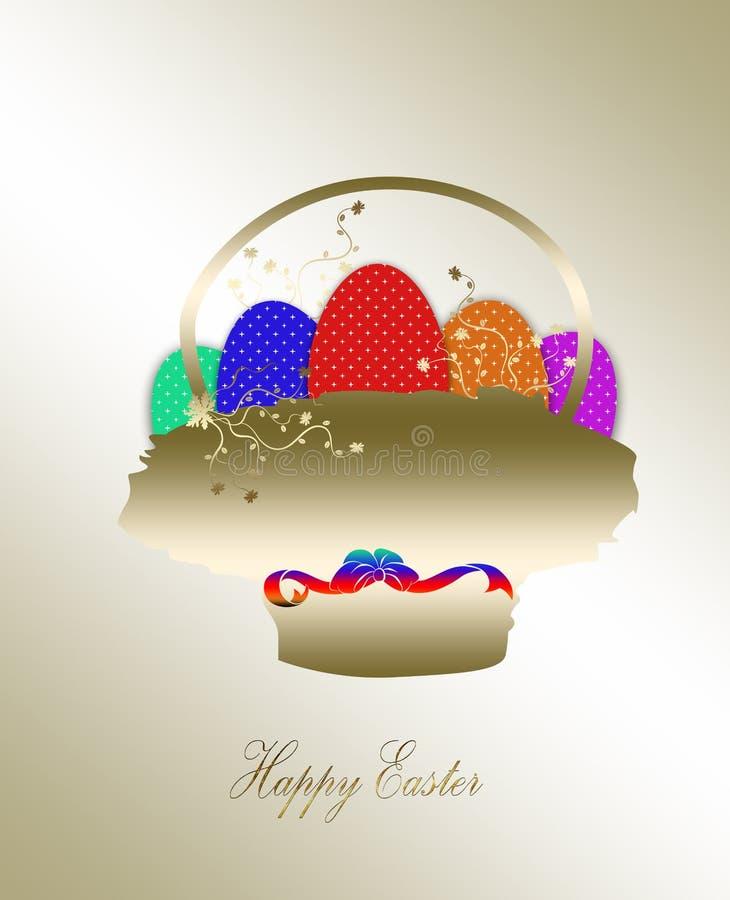 Wielkanocny złocisty tło ilustracja wektor