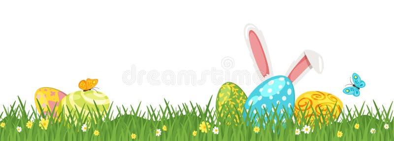 Wielkanocny zielonej trawy granicy projekt ilustracji