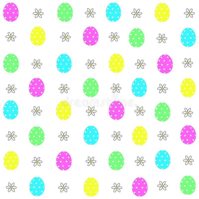 Wielkanocnych jajek dekoracyjni elementy w wektorze dla kolorystyki książki kolorowy dekoracyjny deseniowy bezszwowy ilustracja wektor
