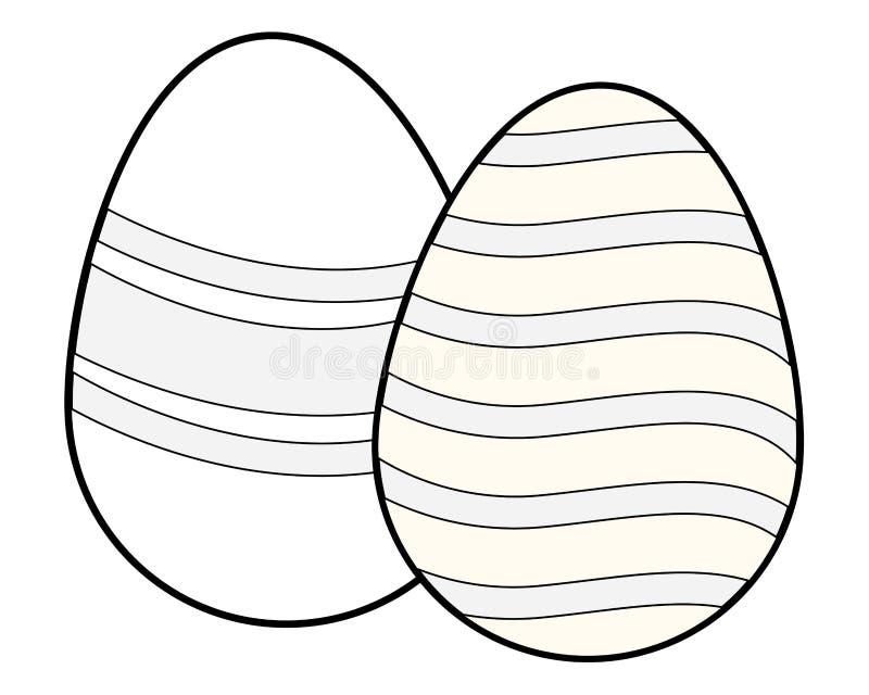 Wielkanocnych jajek kolorowy maluj?cy czarny i bia?y royalty ilustracja
