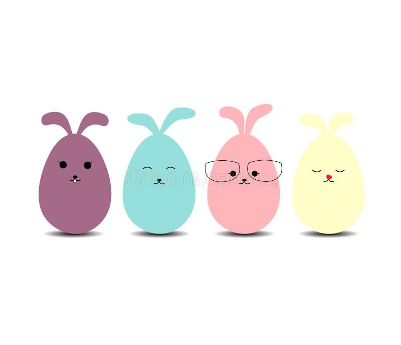 Wielkanocnych jajek królik royalty ilustracja