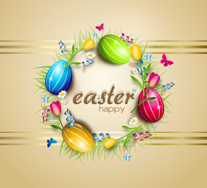 Wielkanocnych jajek okręgu tło royalty ilustracja
