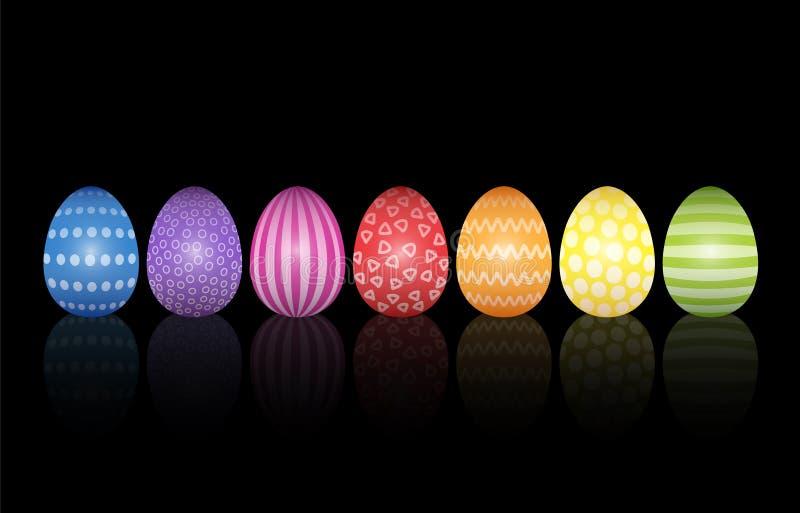 Wielkanocnych jajek tła wzoru Czarny projekt ilustracji