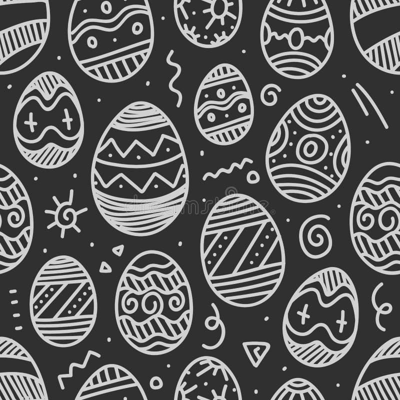 Wielkanocnych jajek wektorowy bezszwowy tło ilustracja wektor