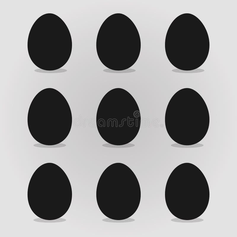 Wielkanocnych jajek wektoru ilustracja ilustracja wektor