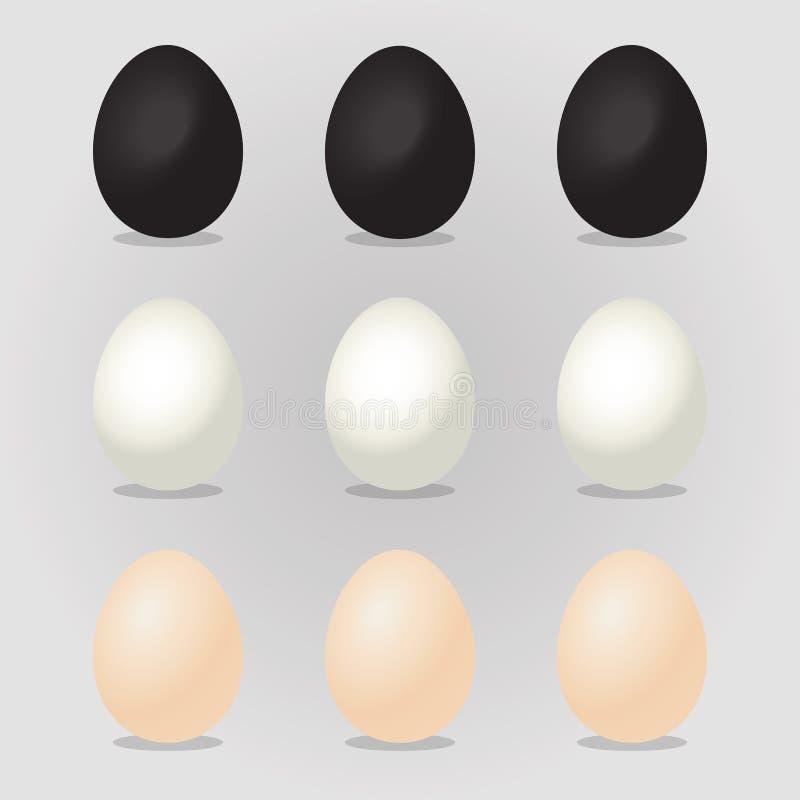 Wielkanocnych jajek wektoru ilustracja royalty ilustracja