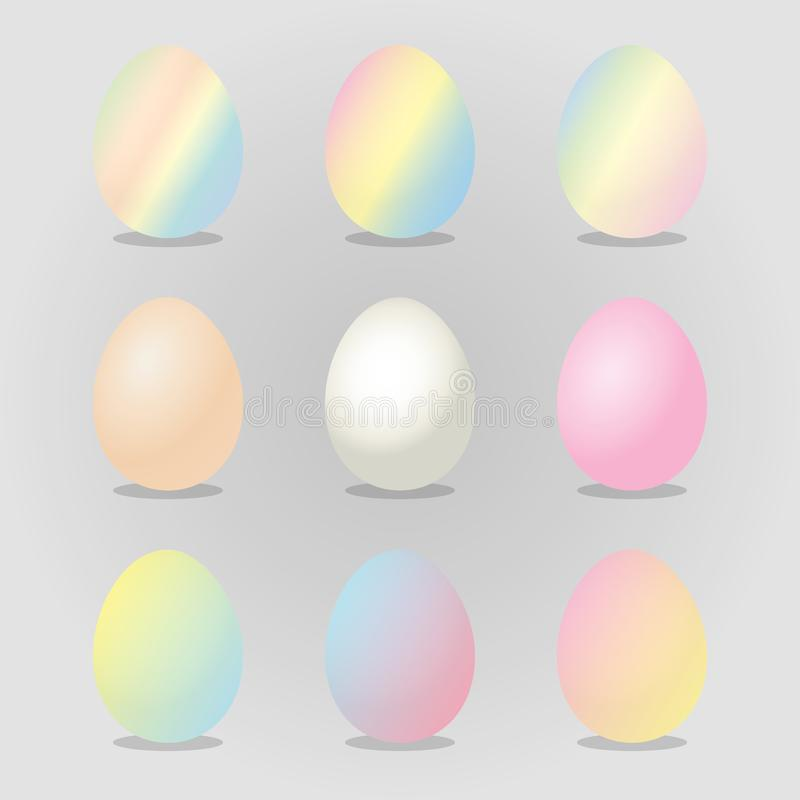Wielkanocnych jajek wektoru ilustracja Szczęśliwy Wielkanocny dzień z kolorowymi Pastelowymi jajkami dla Wielkanocnej wakacje zap ilustracji