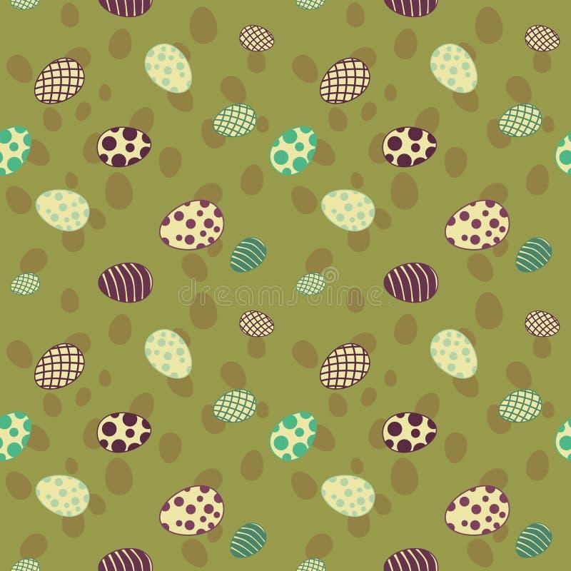 Wielkanocnych jajek wzoru bezszwowa zieleń fotografia royalty free